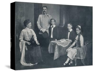 Murdered Archduke Francis Ferdinand with his wife and children, c1910-Unknown-Stretched Canvas Print