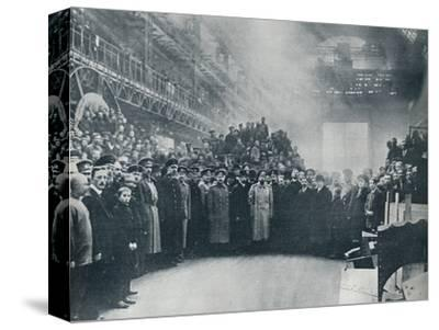 The Czar, taken among the workmen at the great Putiloff Munition and Engineering Works, 1914-Unknown-Stretched Canvas Print