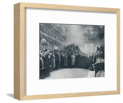 The Czar, taken among the workmen at the great Putiloff Munition and Engineering Works, 1914-Unknown-Framed Photographic Print