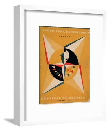 Front cover of a guide to the Festival of Britain, 1951-Unknown-Framed Giclee Print