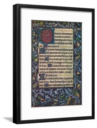 Horae Beatae Virginis Mariae, (Fifteenth Century), 1903-Unknown-Framed Giclee Print