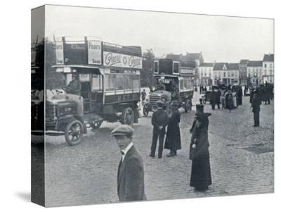 London buses in use on the Continent for transporting British Troops, c.1914-Unknown-Stretched Canvas Print
