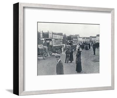 London buses in use on the Continent for transporting British Troops, c.1914-Unknown-Framed Photographic Print