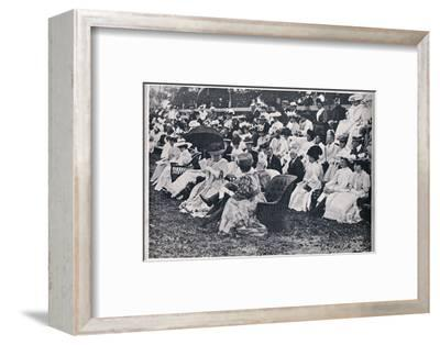 'Some of the Spectators at the Guards' Sports at Chelsea', 1906-Unknown-Framed Photographic Print