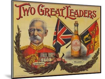 Two Great Leaders, c19th century-Unknown-Mounted Giclee Print