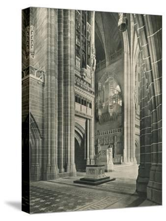 Liverpool Cathedral: General View from Memorial Transept. Architect, Sir G. Gilbert Scott, 1924-Unknown-Stretched Canvas Print