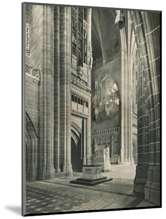 Liverpool Cathedral: General View from Memorial Transept. Architect, Sir G. Gilbert Scott, 1924-Unknown-Mounted Giclee Print