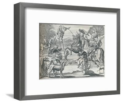 Dutch Skit on Falconry, c1716, (1916)-Unknown-Framed Giclee Print