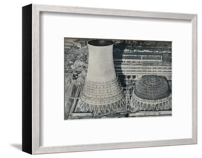 Electrical Power Station at Water Orton, Hams Hall, near Birmingham, 1928-Unknown-Framed Photographic Print