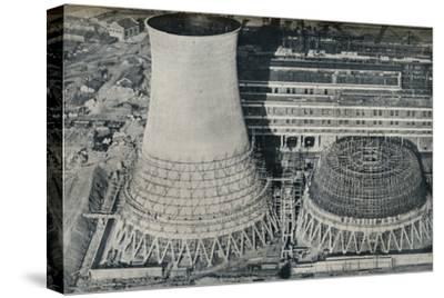 Electrical Power Station at Water Orton, Hams Hall, near Birmingham, 1928-Unknown-Stretched Canvas Print