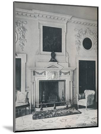 Mantelpiece in the State Drawing-Room, 1916-Unknown-Mounted Photographic Print
