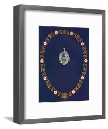The Lord's Mayor's Badge and Collar, 1916-Unknown-Framed Photographic Print