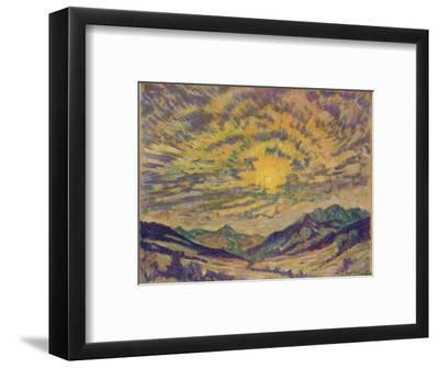 The Winter Sun, c1885-1925, (1925)-Unknown-Framed Giclee Print