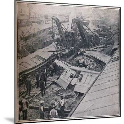 Scene of the Terrible Railway Disaster at Salisbury, 1906-Unknown-Mounted Photographic Print