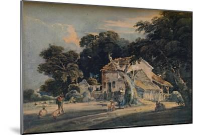A Devonshire Farm, c1798, (1921)-Unknown-Mounted Giclee Print
