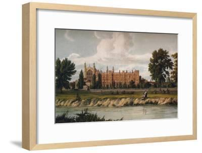 Eton College from the River, 1911, (1914)-Unknown-Framed Giclee Print