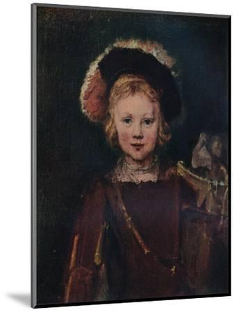 Portrait of a Boy, c1655. (1911)-Unknown-Mounted Giclee Print