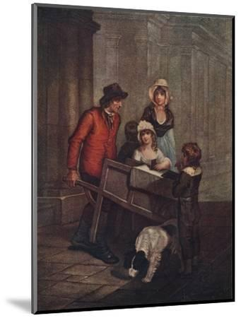 Cries of London Plate 12: Hot Spice Gingerbread, smoaking hot!, 1796, (1911)-Unknown-Mounted Giclee Print