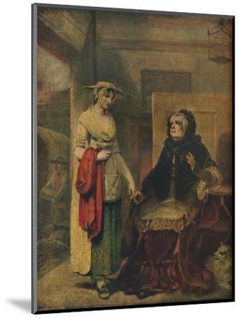 The Daughter's Departure, 18th century, (1921)-Unknown-Mounted Giclee Print