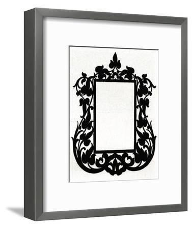 A design for a picture frame titled 'Aesthetic', 1898-Unknown-Framed Giclee Print