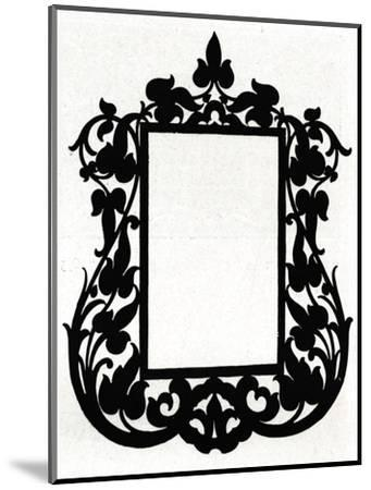 A design for a picture frame titled 'Aesthetic', 1898-Unknown-Mounted Giclee Print