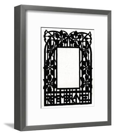 A design for a picture frame titled 'Margery Daw, 1898-Unknown-Framed Giclee Print