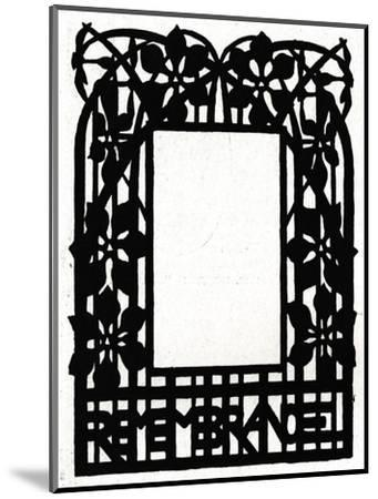 A design for a picture frame titled 'Margery Daw, 1898-Unknown-Mounted Giclee Print