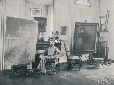 Edmond Francois Aman-Jean (1858-1936). French symbolist painter, 1898-Unknown-Framed Photographic Print