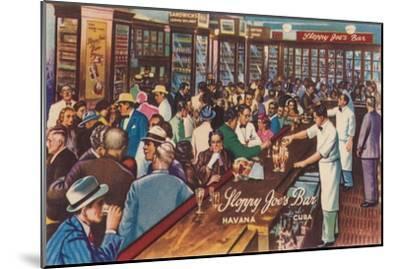 Sloppy Joe's Bar, Havana, Cuba, 1951-Unknown-Mounted Giclee Print