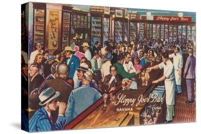 Sloppy Joe's Bar, Havana, Cuba, 1951-Unknown-Stretched Canvas Print