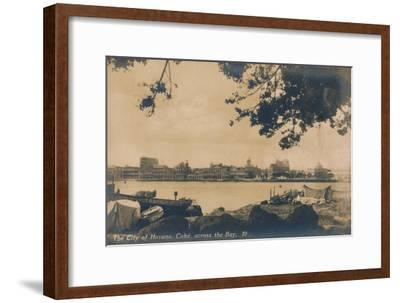 The City of Havana, Cuba, across the Bay, c1930-Unknown-Framed Giclee Print