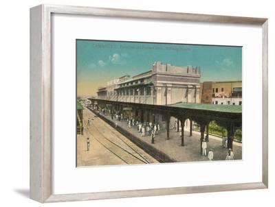 Camaguey. Estacion del Ferro-Carril. Railway Station, Cuba, c1910s-Unknown-Framed Giclee Print
