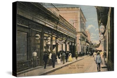 No. 61. Calle Obispo. Obispo Street, Havana, Cuba, c1910-Unknown-Stretched Canvas Print