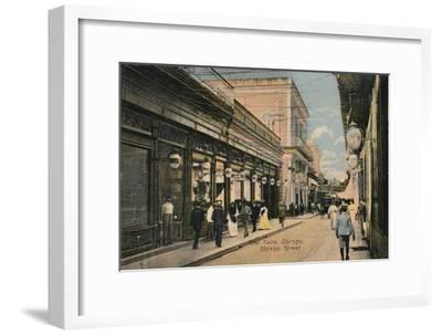 No. 61. Calle Obispo. Obispo Street, Havana, Cuba, c1910-Unknown-Framed Giclee Print