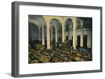Warehouse of Leaf Tobacco, Havana, Cuba, c1910s-Unknown-Framed Giclee Print