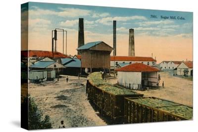 Sugar Mill, Cuba, c1910-Unknown-Stretched Canvas Print
