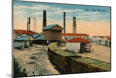 Sugar Mill, Cuba, c1910-Unknown-Mounted Giclee Print