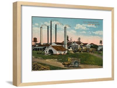 Cuba: Ingenio moliendo. Sugar Mill at work, c1900-Unknown-Framed Giclee Print