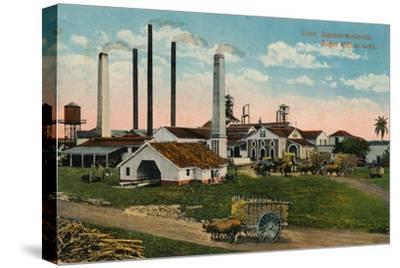 Cuba: Ingenio moliendo. Sugar Mill at work, c1900-Unknown-Stretched Canvas Print