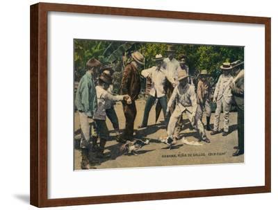 Habana. Rina de Gallos. Cock-fight, c.1900s-Unknown-Framed Giclee Print