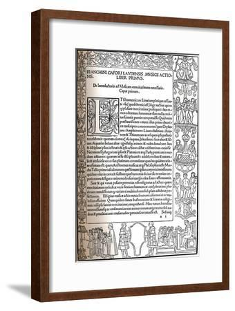 Practica Musicae, 1496, (1917)-Unknown-Framed Giclee Print