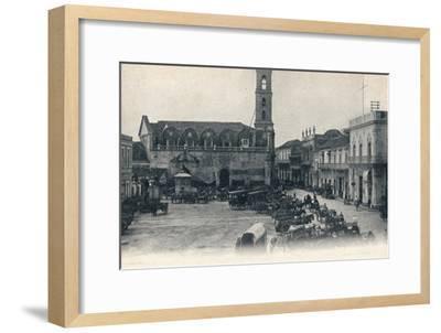 Custom House and Square, Havana, Cuba, c1900-Unknown-Framed Giclee Print