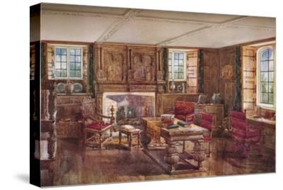 An Elizabethan Living Room, c19th century, (1923)-Unknown-Stretched Canvas Print