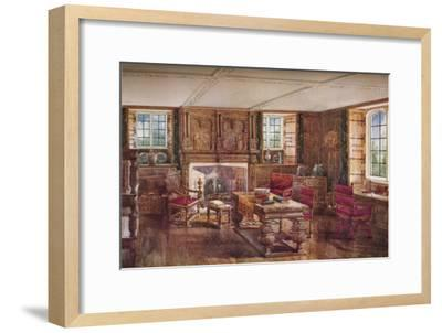 An Elizabethan Living Room, c19th century, (1923)-Unknown-Framed Giclee Print
