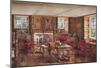 An Elizabethan Living Room, c19th century, (1923)-Unknown-Mounted Giclee Print