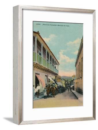 American Consulate, Santiago de Cuba, c1911-Unknown-Framed Giclee Print