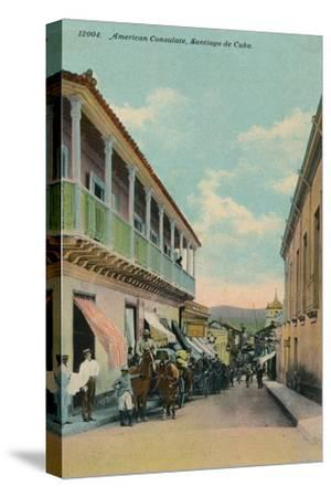 American Consulate, Santiago de Cuba, c1911-Unknown-Stretched Canvas Print