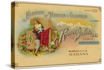Advertisement for Romeo y Julieta cigars, c1900s-Unknown-Stretched Canvas Print