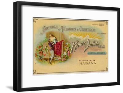 Advertisement for Romeo y Julieta cigars, c1900s-Unknown-Framed Giclee Print