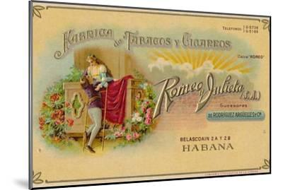 Advertisement for Romeo y Julieta cigars, c1900s-Unknown-Mounted Giclee Print